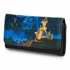 Loungefly Star Wars Wallet A New Hope Luke, Leia, Darth Vader Faux Leather New