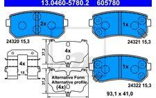 ATE Juego de pastillas freno Trasero para BMW Serie 1 MERCEDES 13.0460-5780.2