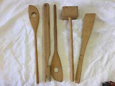 Set of 5 Wooden cooking utensils shelf#E6 ****