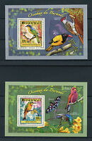 Burundi 2014 MNH Birds of Burundi 4x Deluxe S/S Oiseaux Barbet Finches Bee-Eater