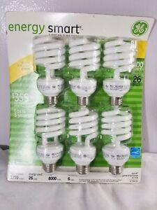 GE Energy Smart CFL Light Bulbs 47709 100 Watt Soft White 6-Pack Energy Star