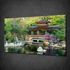JAPANESE COLOURFUL GARDEN CANVAS PRINT PICTURE WALL ART FREE FAST DELIVERY