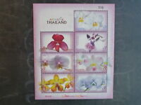2009 THAILAND ORCHIDS 7 STAMP MINI SHEET MINT MNH