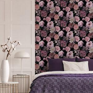 Fresco Pink Pandora Drama Floral Wallpaper