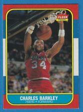 1986 Fleer Basketball #7 Charles Barkley Rookie Card RC 76ers Suns Very Clean!