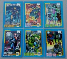 Complete Set of 6 Cards- 1991 Marvel Trading Card Treats by Impel -Free Shipping