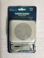 Shakespeare ES-2 Marine Radio External Speaker 6 Foot Cord Weatherproof White