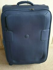 DELSEY 'TUILERIES' NAVY SUITCASE WITH 4 SPINNER WHEELS -EXPANDING