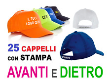 25 cappellini con stampa, cappelli con logo, cappellini personalizzati