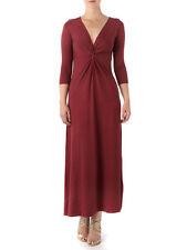 Full Length Patternless 3/4 Sleeve Casual Dresses for Women