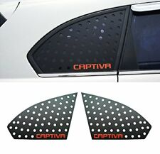 Ver.2 Window Sports Plate C Pillar Red Lettering For 2011 2014 Chevy Captiva
