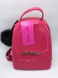 $78 Betsey Johnson Women's Don't Be Jelly Backpack,Fuchsia