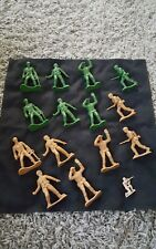 """Plastic Army Men 4"""" inch toy soldiers  by Greenbrier (lot of 14)"""