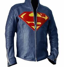 Blue Superman Jacket Famous Smallville Faux Leather Jacket For Men's -Best Price