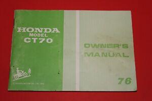 HONDA 76 MODEL CT 70 Owner's Manual  NOS  Printed in Japan  3109805D