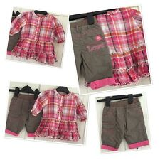 Baby Girls Cute Tunic Dress Top & M&s Combats 0-3 Months