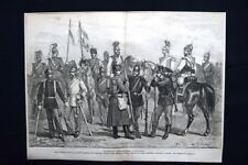 Uniformi dell'armata Prussiana Incisione del 1875