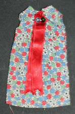 """*Vintage Handmade Doll Dress-2 1/4"""" Armit To Armpit By 4 3/4"""" Tall-Excellent"""