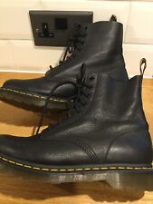 Doc Martens 1460 Virginia Black PascalSoft Leather 8hole Uk7/41 Excellent Boots