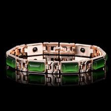 Ladies Magnetic Bracelet Beautiful Green Gemstones Arthritis Pain Relief