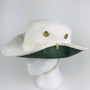 AS-IS w/ Stains - Tilley Endurables Classic Bucket Hat, Cream Canvas, Size 7-1/2
