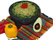 Authentic Molcajete Guacamole Basalt Lava Stone Mortar and Pestle Spice Grinder