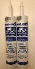 Bird-X Bird Proof Repellent Transparent Gel 10 oz Tubes- Lot Of 2