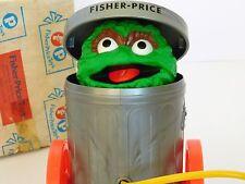 Rare 1977 Sesame Street OSCAR THE GROUCH Fisher Price 177 Pull N Pop CATALOG BOX
