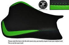 DESIGN 3 L GREEN BLACK VINYL CUSTOM FOR KAWASAKI NINJA ZX6R 636 09-15 SEAT COVER