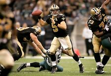 Drew Brees 2009 Nfc first career playoff win game worn signed cleats Jsa Coa