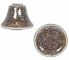 Aromatize Caramel Lustre Candle Shade & Plate Set NEW  26498