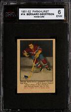 "1951-52 PARKHURST #14 ""BOOM BOOM"" GEOFFRION HALL OF FAME ROOKIE CARD KSA 6 EX-NM"