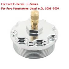 Billet Aluminum Fuel Filter Cap w/Pressure Port For 203-07 Ford Powerstroke 6.0L
