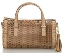 NEW! Brahmin Claire Natural Dandridge Woven Leather Crossbody Bag NWT $365