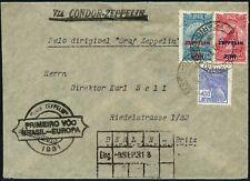 Zeppelin Brasilien 1931 1. Südamerikafahrt Rio Berlin 366-367 Si 125 C/ 586