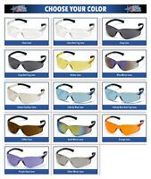 Pyramex Ztek Safety Glasses Work Eyewear Choose Your Lens Color ANSI Z87+