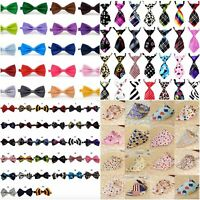 Dog Cat Pet Accessories Bow Tie Adjustable Necktie Collar Bandana Bowtie UK