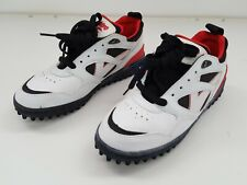 MENS HOCKEY SHOES PITCH FIELD SPORT LEATHER VITRO THAMES I WHITE  RED SIZE 7.5