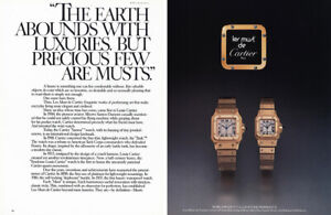 1981 Cartier Watches: Earth Abounds with Luxuries Vintage Print Ad