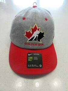 NWT Mens Nike Team Canada IIHF Olympics Hockey Hat Cap 1 sz.-fits-all NEW!
