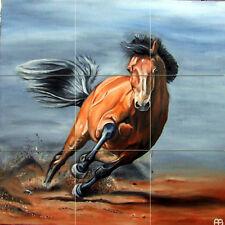 Art Colorful Horse Mural Ceramic Backsplash Bath Tile #1619