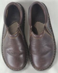 Born Glen French Roast Brown Leather Loafer Slip On Shoes 6 M/W NIB