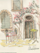 Alan paul: cafe for two marcos de cuña-imagen lienzo Idylle nostalgia romance