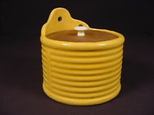 RARE AMERICAN 1920 McCOY RING PATTERN HANGING SALT BOX with LID YELLOW WARE MINT