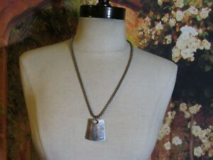 """Round Silver Tone Chain Necklace with a Silver Pendant Marked Chico's 22"""""""