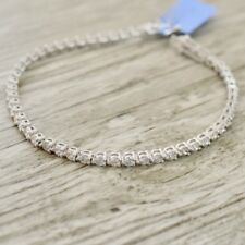 4.20cts Sterling Silver Round Tennis Braclet 14k White Gold Over Cubic Zirconia