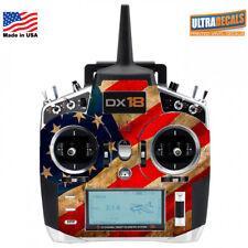 USA Flag Spektrum DX18 Transmitter Skin Wrap Decal Radio