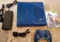 Xbox 360 250GB E Console Bundle (PAL) Rare Limited Edition Blue Free Post