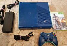 Xbox 360 250GB E Console Bundle (PAL) Rare Limited Edition Blue Free Post