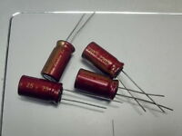 2 X MADE IN JAPAN ELNA RED CERAFINE 2200uF 16V FOR AUDIO ELECTROLYTIC CAPACITOR